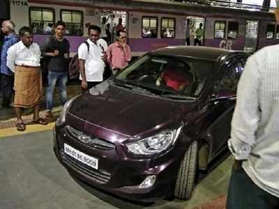 U-19 cricketer drives car onto railway station platform during rush hour