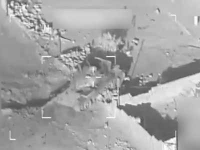 Watch a US-led strike knock out an ISIS tank near the terrorist group's shrinking Iraqi stronghold