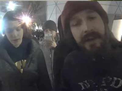 Shia LaBeouf shut down his anti-Trump protest stream after reports of gunshots