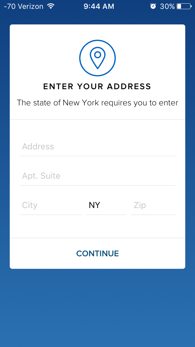 User-friendliness quickly hit a snag. When I put in my address, the app didn't recognize I had already selected it from the autofill menu. I couldn't proceed unless I switched to the desktop app.