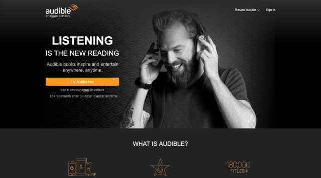 Audible — 30-day free trial