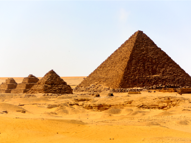 THEN: Israelite slaves built the pyramids