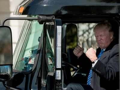 Trump met with truckers to push 'Trumpcare' - and Twitter is going crazy over the photos