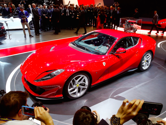 4. Ferrari's gorgeous 812 Superfast made its official debut at the Geneva Motor Show in early March. It comes with a 6-liter V12 engine that produces a staggering 780 hp.