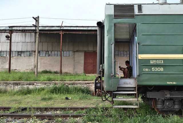 The train ride from Tumangang to Pyongyang — the capital of North Korea — lasts a day. It was canceled because of a dispute between North Korea and South Korea.
