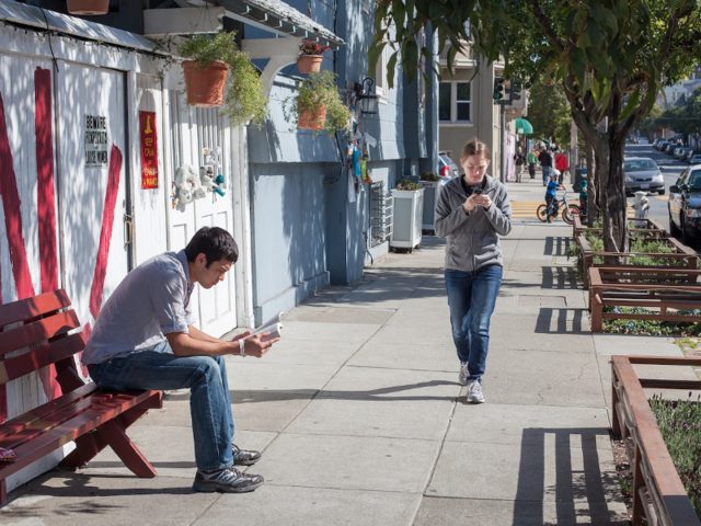 Your brain can't handle walking and using your phone at the same time — so look up.