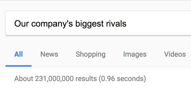 Competitors' sites