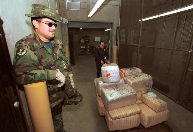 In 1999, the US Border Patrol confiscated record numbers of drugs and money: 11,249 pounds of cocaine, 168,000 pounds of marijuana, and $13.2 million in currency.