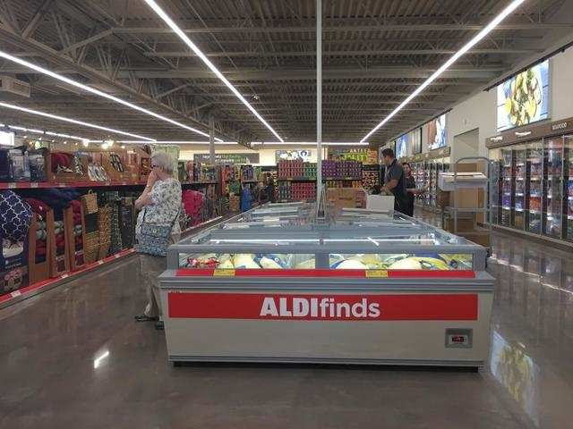 Aldi currently represents only 1.5 of the U.S. grocery market versus Walmarts 22, according to Reuters, but its sales represent a growing threat. Reuters reports that sales at Aldi are growing at a rate of 15, while sales at Walmart are only expected to grow 2 in 2019