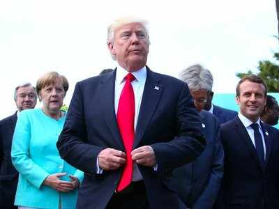 G7 leaders took a stroll in Sicily - and Trump followed them in a golf cart