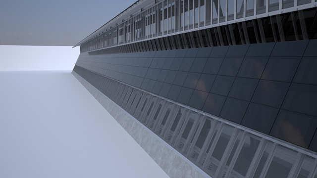 A wall that generates solar power