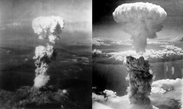 """From there, both """"Little Boy"""" and """"Fat Man"""" were flown over Hiroshima and Nagasaki, respectively, dropped, and detonated. On August 15, Japan announced its intention to surrender, signing formal documents to that fact on September 2, ending World War II."""