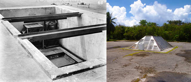 """Both pits for """"Little Boy"""" and """"Fat Man,"""" each roughly 8 feet by 12 feet, still exist today on the island and now serve as a memorial of sorts."""