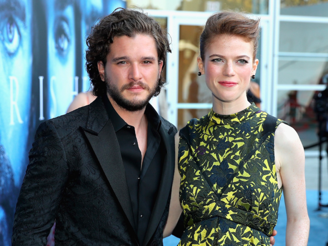 """July 2017: The couple attended the """"Game of Thrones"""" season seven premiere together and rumors fly that they're engaged."""