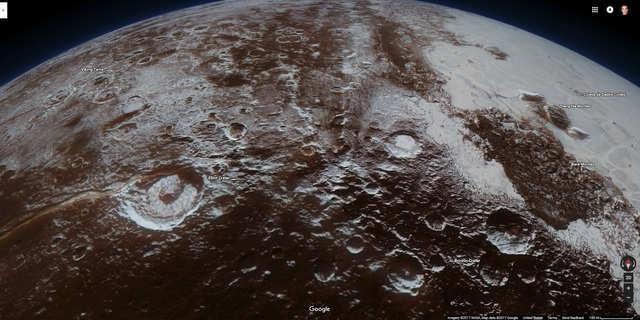 Google Maps Doesnt Have Elevation Data For Plutos Mountainous - Elevation data google maps