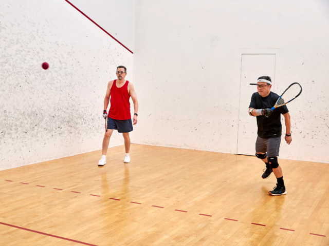 There's even a space where you can knock out a few intense rounds of racquetball with your colleagues. For the post-workout wind down, employees can hit the steam rooms located in the campus' locker rooms ...
