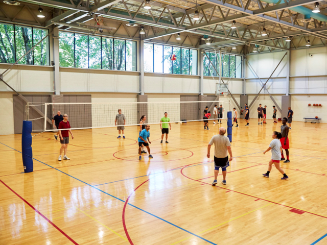 If employees are in the mood for a quick pick-up game, the headquarters also features a volleyball court, a basketball court, a softball diamond, tennis courts, a soccer field, and a track ...