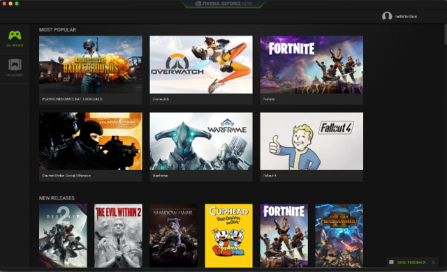These are some of the games you can play through GeForce Now.
