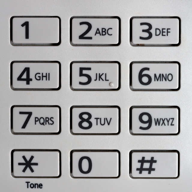 number letter keypad any communication in and out of is closely 45326