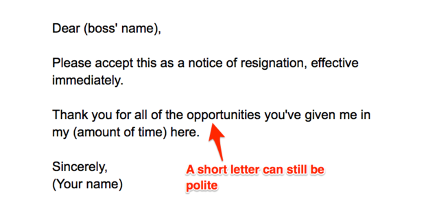 Short And Sweet Resignation Letter from www.businessinsider.in