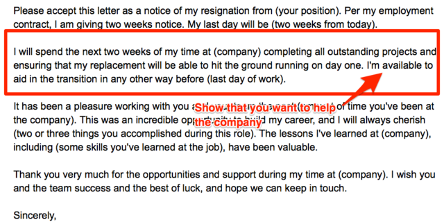 write a resignation letter without burning your bridges