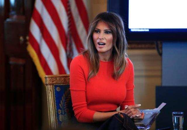 She's also the only first lady whose first language wasn't English.