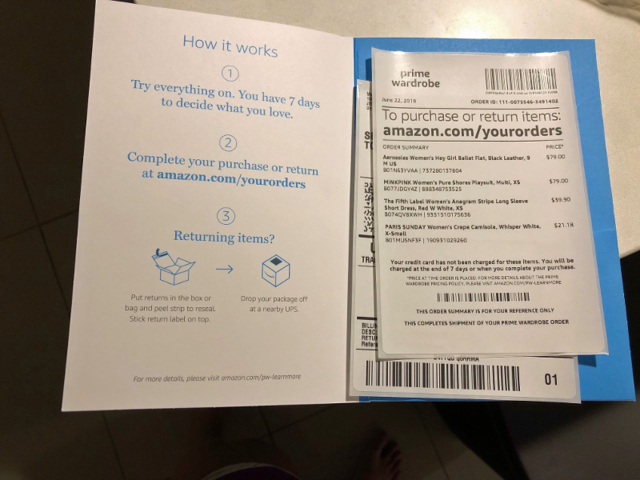 An envelope contained my receipt and instructions for what to do next.