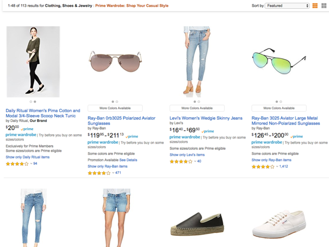 Once I clicked into a collection, however, it was a mishmash of brands and different kinds of products.