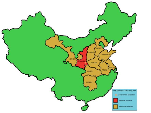 1556Shaanxi province earthquake — 830,000 deaths