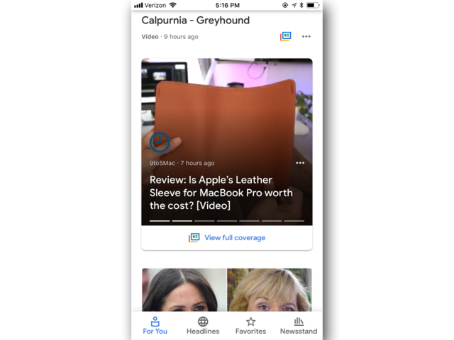 On the flip side, the Google News app has autoplay video.