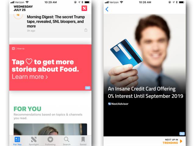 There's one major way Apple News differs from Google News: ads.