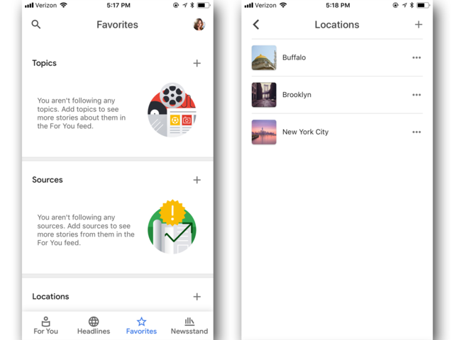 Google News lets you customize what type of news you want to follow.