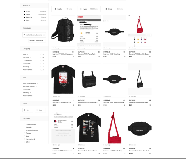 242a77154b Another popular reselling website is Grailed. Within 45 minutes of Supreme s  online launch