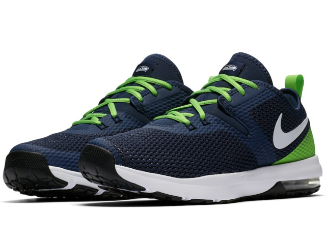 72459bf79fb Seattle Seahawks Nike Air Max Typha 2 Shoes – Navy Neon Green