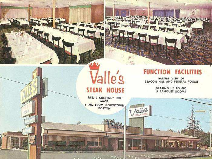 Valle's Steakhouse was an East Coast chain that started in 1933.