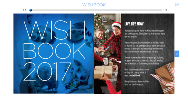 127cffafd Sears will not be printing its iconic holiday Wish Book one year ...