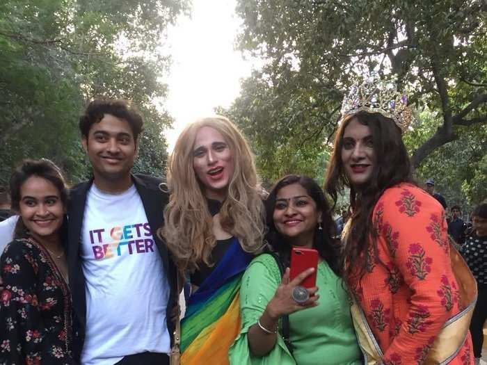Thousands of people walked at the 11th edition of Delhi Queer Pride Parade from Delhi's Barakhamba Road to Tolstoy Marg.