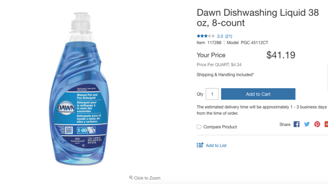 We compared prices on Amazon and Costco to see which offers
