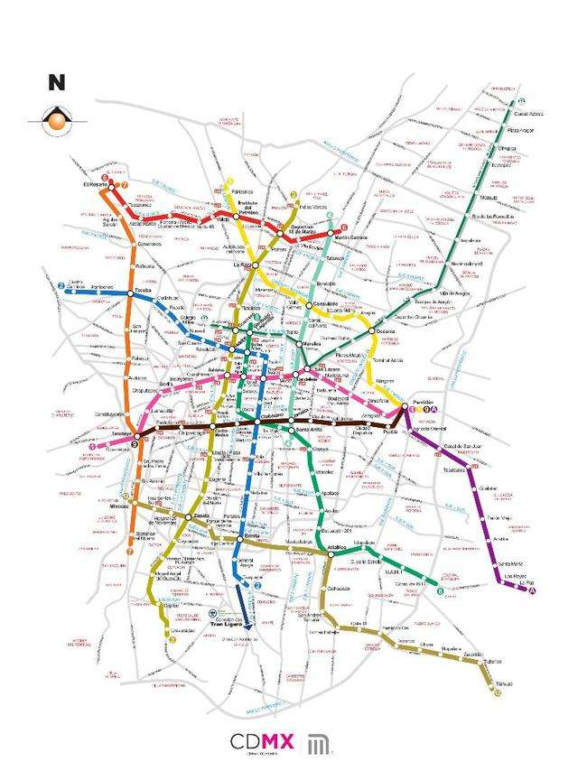 theres a total of 12 lines criss crossing the city and connecting to regional rail services