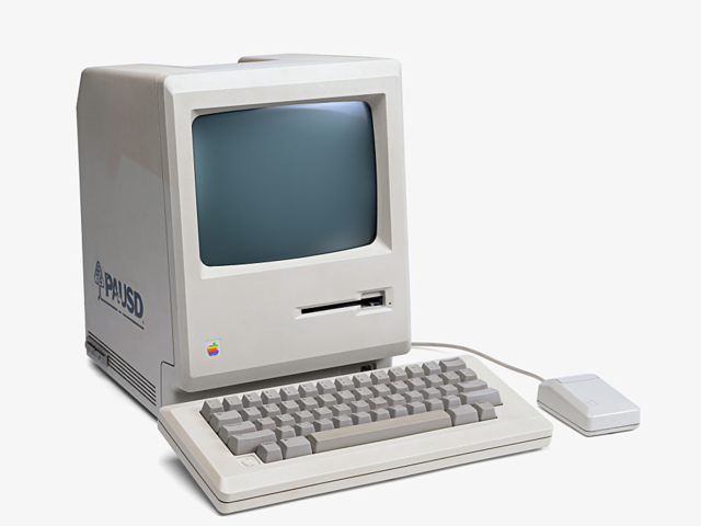 The Apple Macintosh made its debut in 1984 as the first mass-market personal computer.