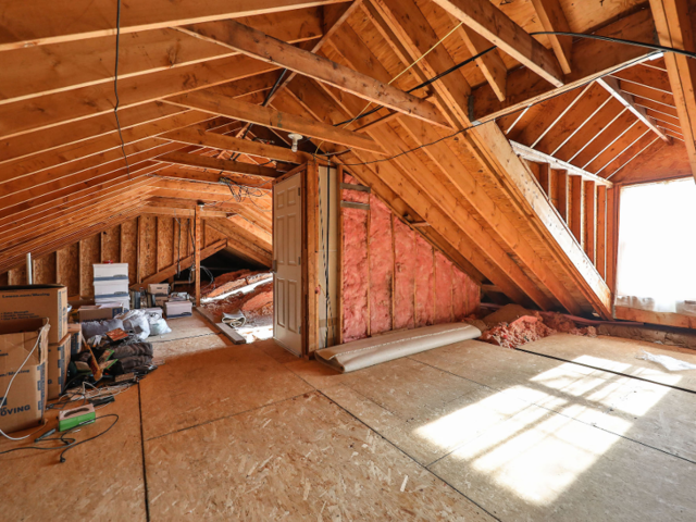 In addition to the basement and the two stories, the home also has an unfinished attic.