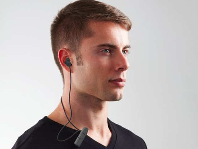 A light pair of Bluetooth earbuds for listening to music on the go