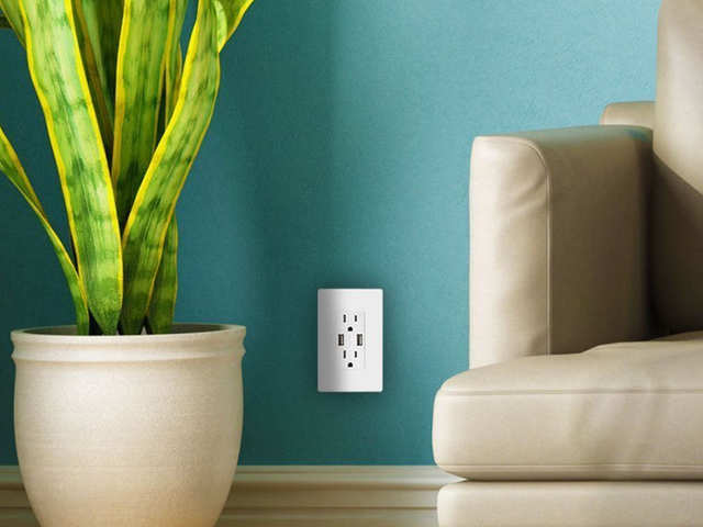 Outlets with USB ports in them so I don't have to carry around chargers