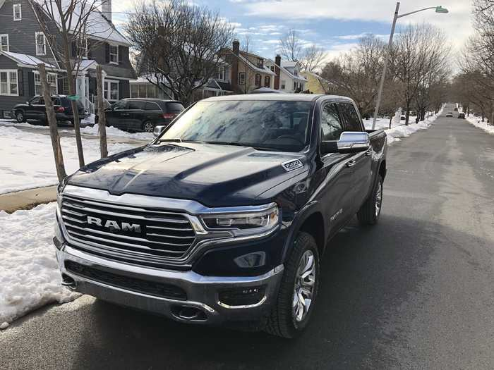 """First up is the 2019 RAM 1500 Crew Cab. I tested a Western-themed Laramie """"Longhorn"""" edition, which was $54,000 before the addition of many extra features. As tested, the price was $68,500."""