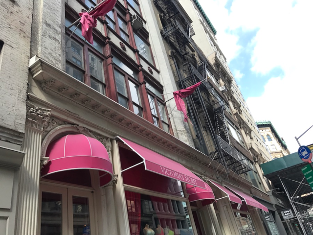 Our first stop was at a Victoria's Secret store in Manhattan's busy Soho shopping district.