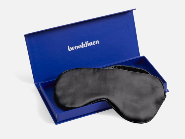 A silk eye mask