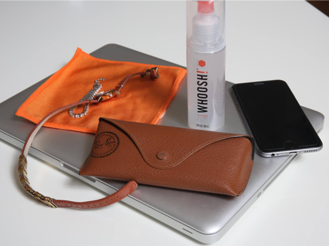 A cleaning kit for her phone