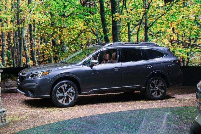 Subaru introduced the next-generation Outback midsize crossover at the show while ...