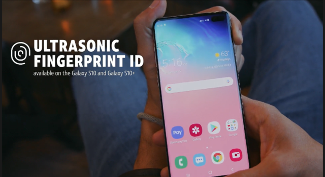 An on-screen fingerprint sensor