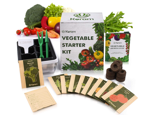An organic vegetable starter kit